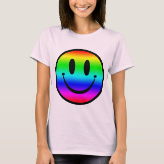 Camiseta Smiley V1 do arco-íris
