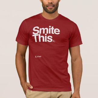 Camiseta Smite este t-shirt corajoso do texto