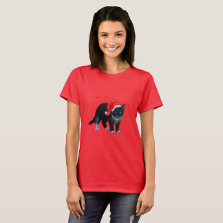 Camiseta Smoking do gato do gatinho dos t-shirt do Natal