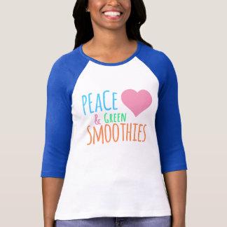 Camiseta Smoothies do verde do amor da paz