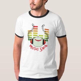 Camiseta Snobe da música multicolorido