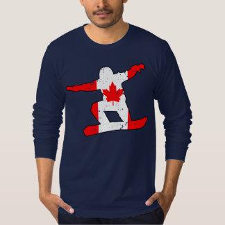 Camiseta SNOWBOARDER da folha de bordo (preto)