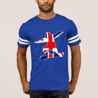 Camiseta SNOWBOARDER de Union Jack (branco)