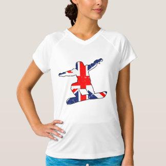 Camiseta SNOWBOARDER de Union Jack (preto)