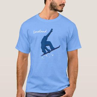 Camiseta Snowboarder do azul de Loveland