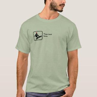 Camiseta Snowboarder -- Logotipo pequeno -- Customizável