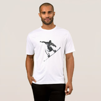 Camiseta Snowboarder que agarra algum ar