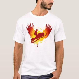 Camiseta snowmobiling de alta fidelidade
