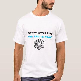 "Camiseta Snowpocalypse 2010, ""a extremidade está perto """