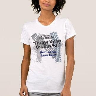 Camiseta Sob a colher ocasional das senhoras do galão do