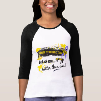 Camiseta Sob o cancer de estômago da construção