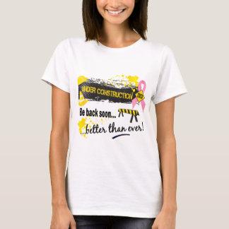 Camiseta Sob o cancro da mama da construção