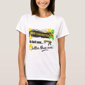 Camiseta Sob o linfoma Non-Hodgkin da construção