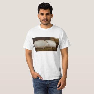 Camiseta Sobressalente do porco do irmão alguma aveia