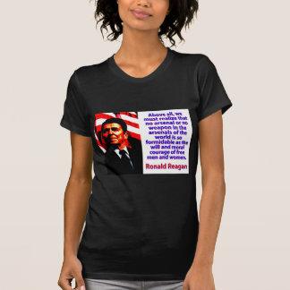 Camiseta Sobretudo nós devemos realizar - Ronald Reagan