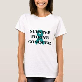 Camiseta Sobreviva prosperam conquistam o t-shirt das