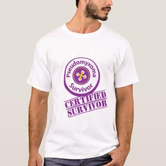 Camiseta Sobrevivente certificado de Pseudomyxoma