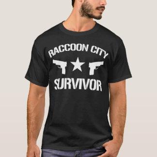 Camiseta sobrevivente da cidade do guaxinim