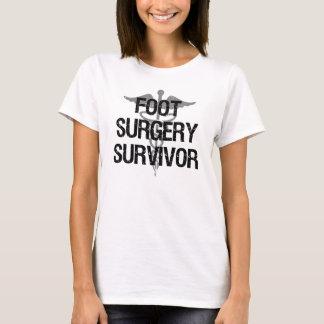 Camiseta Sobrevivente da cirurgia do pé