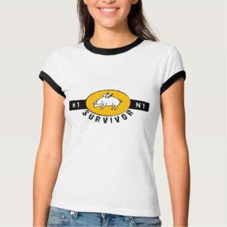 Camiseta Sobrevivente da gripe dos suínos - ouro