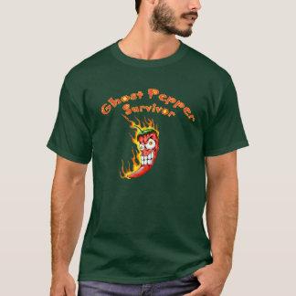 Camiseta Sobrevivente da pimenta do fantasma