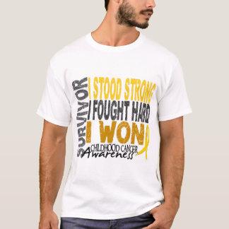 Camiseta Sobrevivente de câncer 4 da infância