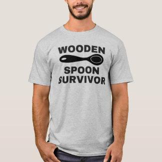 Camiseta Sobrevivente de madeira da colher