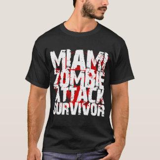 Camiseta Sobrevivente do ataque do zombi de Miami