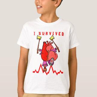 Camiseta Sobrevivente do cardíaco de ataque