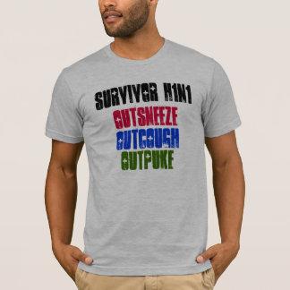 Camiseta Sobrevivente H1N1, Outcough, Outsneeze, Outpuke