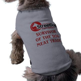 Camiseta Sobrevivente - logotipo claro de ISDF