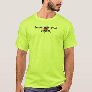 Camiseta Sobrevivente repentino da parada cardíaca