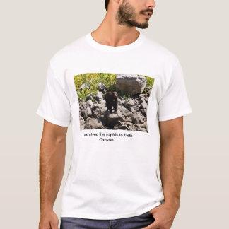Camiseta Sobreviveu aos rapids na garganta dos infernos