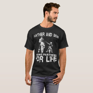 Camiseta Sócios da equitação do pai e do filho para a vida