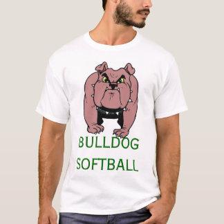 Camiseta Softball do buldogue