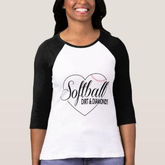 """Camiseta Softball Shirt """"Dirt&Diamonds """""""