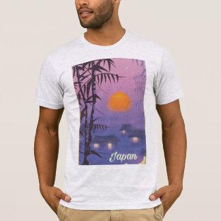 Camiseta Sol de ajuste da paisagem de Japão