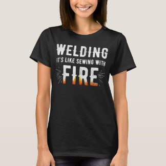 Camiseta Soldá-lo é como sewing com fogo