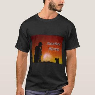 Camiseta Soldado americano e seu cão