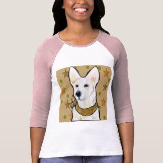 Camiseta Soldado branco do german shepherd