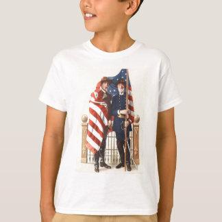 Camiseta Soldado confederado da união da bandeira dos E.U.