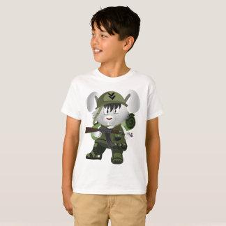 Camiseta Soldado do Amy do t-shirt do Hanes TAGLESS® dos