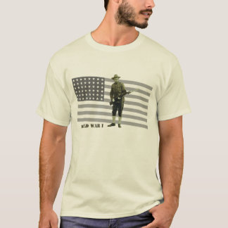 Camiseta Soldado do Doughboy da Primeira Guerra Mundial do