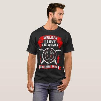 Camiseta Soldador eu amo uma mulher e Tshirt de diversas