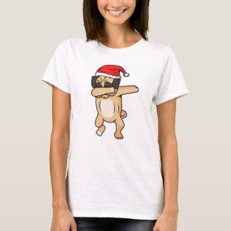 Camiseta Solha bonito do cão com o t-shirt de Chrismas do