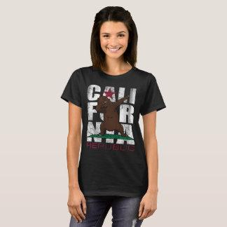 Camiseta Solha de toque ligeiro da bandeira do urso da