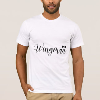 Camiseta Solteiro do casamento de Bowtie do Wingman