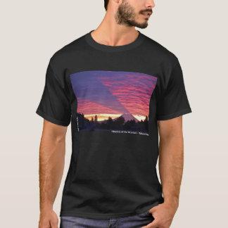 Camiseta Sombra da montanha - o Monte Rainier