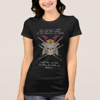Camiseta Sombra do 23:4 do salmo do guerreiro cristão do