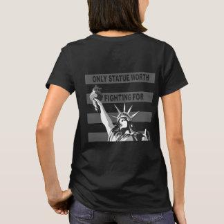Camiseta Somente valor da estátua que luta pelo t-shirt
